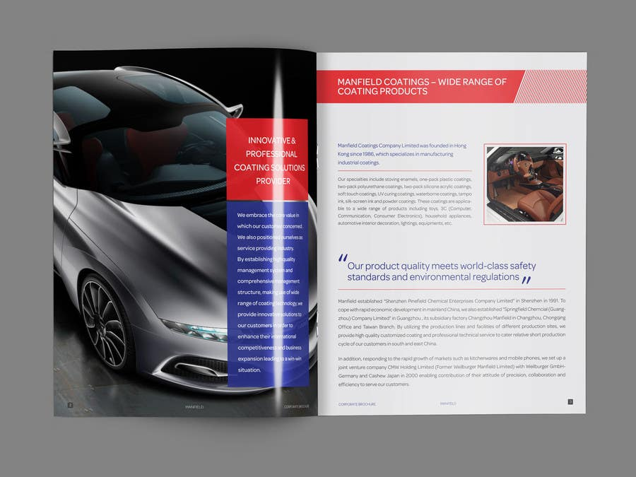 Entri Kontes #                                        3                                      untuk                                        Cover and Back Cover Design for Brochure - Coating Company targeted for Automotive Industry