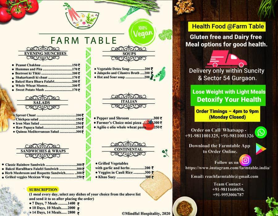 Kilpailutyö #                                        28                                      kilpailussa                                         Design a Health Food Menu Card for Farmtable Restaurant