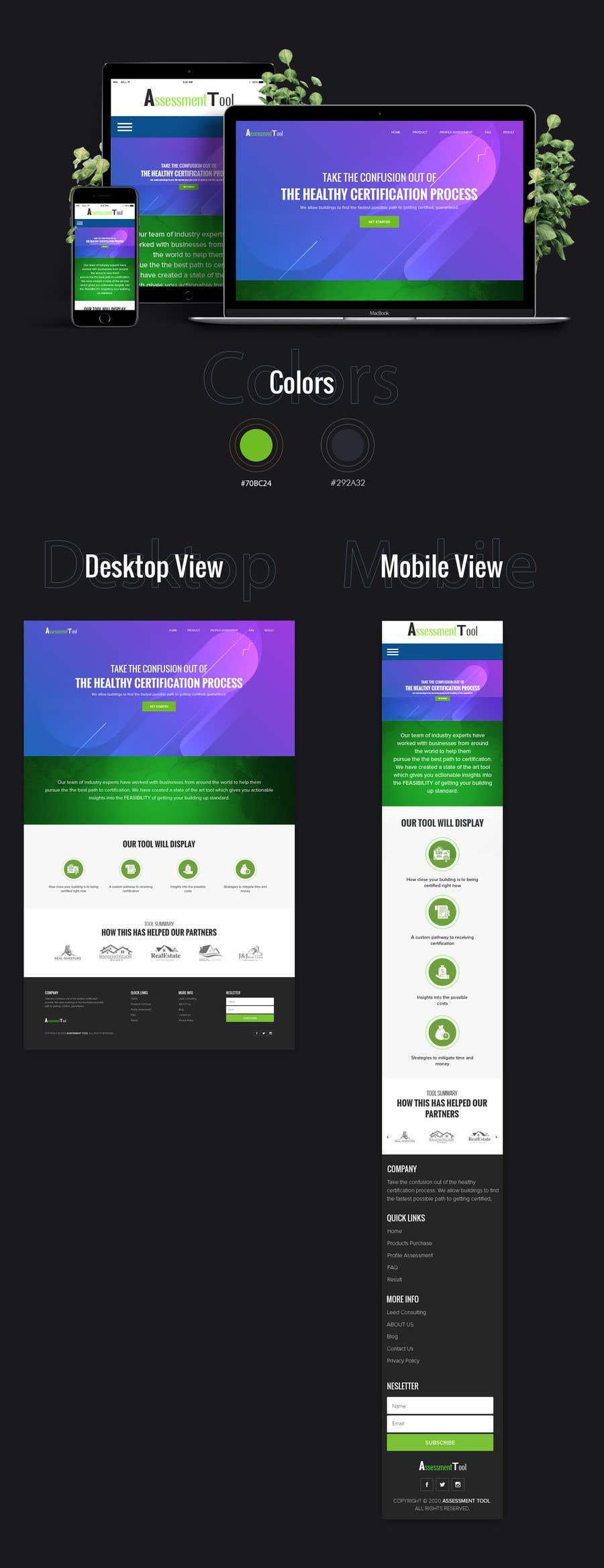 Kilpailutyö #                                        20                                      kilpailussa                                         Design a website for an assessment tool