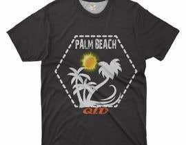 #150 for Minimalist t-shirt design - Wave and Palm Tree - Black and white - basic af kassultan