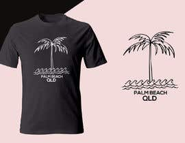 #151 for Minimalist t-shirt design - Wave and Palm Tree - Black and white - basic af shaowna21
