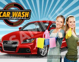 #17 para Design a Banner for Car Wash de ZISGraphics