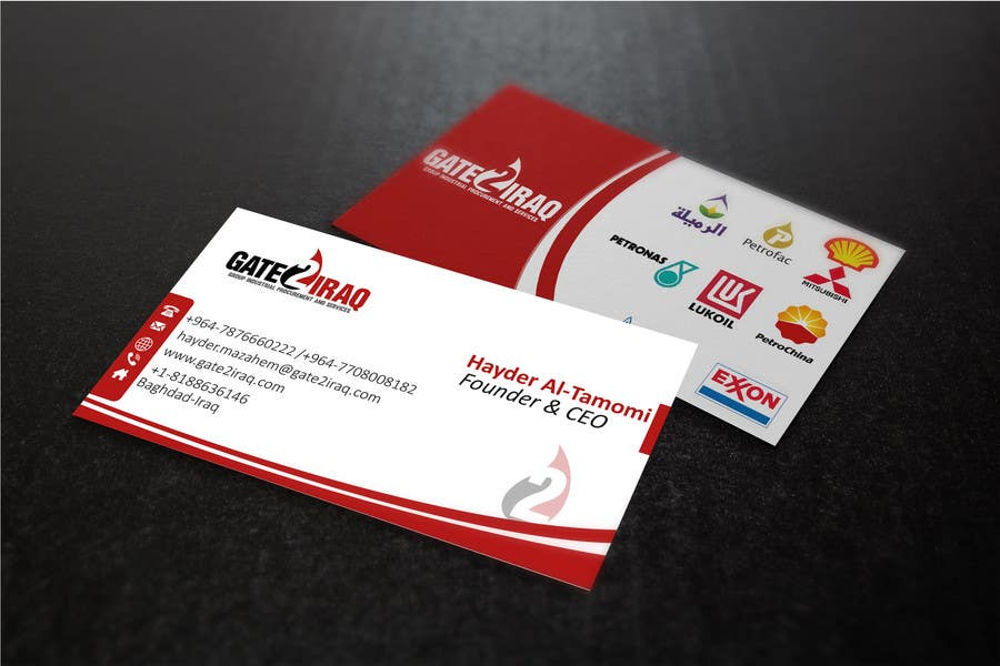 Bài tham dự cuộc thi #15 cho Design some Business Cards for Gate2Iraq Group
