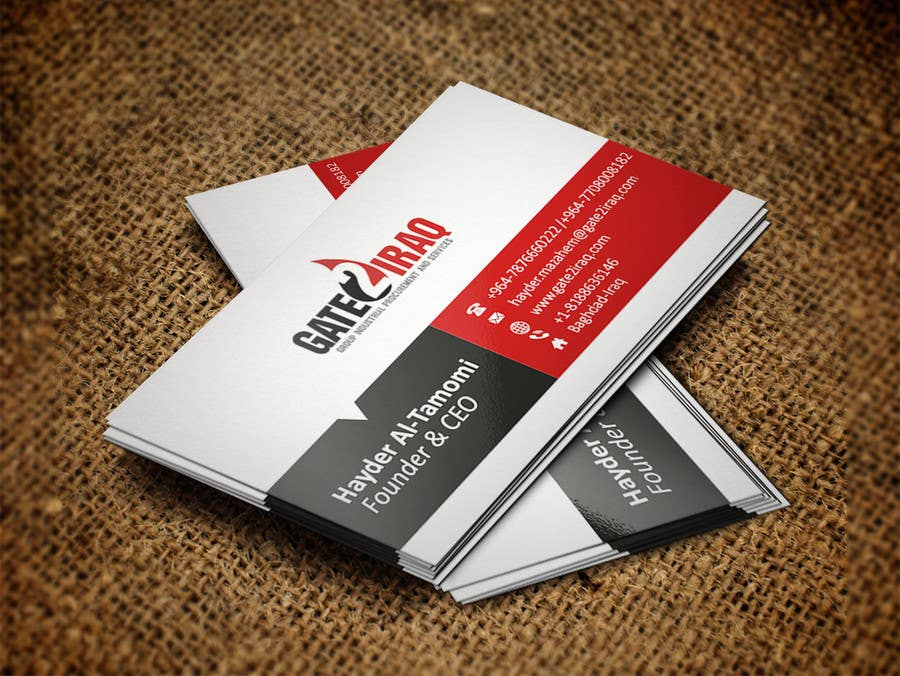 Bài tham dự cuộc thi #22 cho Design some Business Cards for Gate2Iraq Group