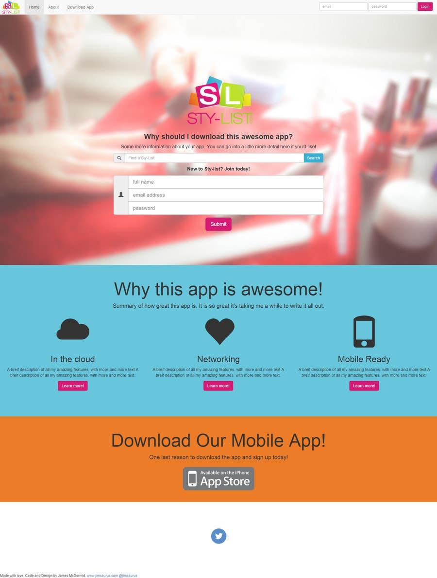 Konkurrenceindlæg #                                        1                                      for                                         Landing Page Design