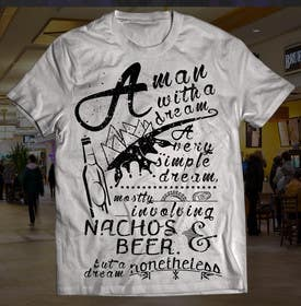 #3 for Retro Grey T-shirt Design Nacho by iraelan