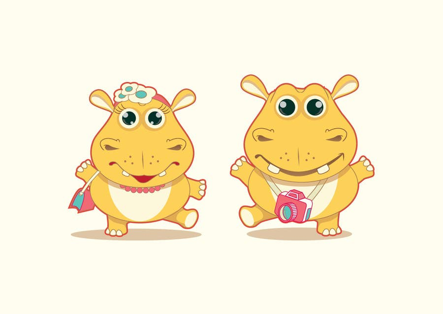 #20 for Illustration for a company mascot. [Hippo] by HimawanMaxDesign
