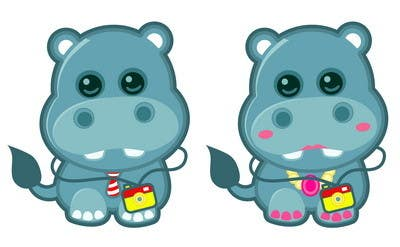 #13 for Illustration for a company mascot. [Hippo] by Stevieyuki