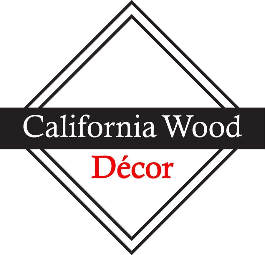 Inscrição nº 53 do Concurso para Design a Logo for California Wood Decor