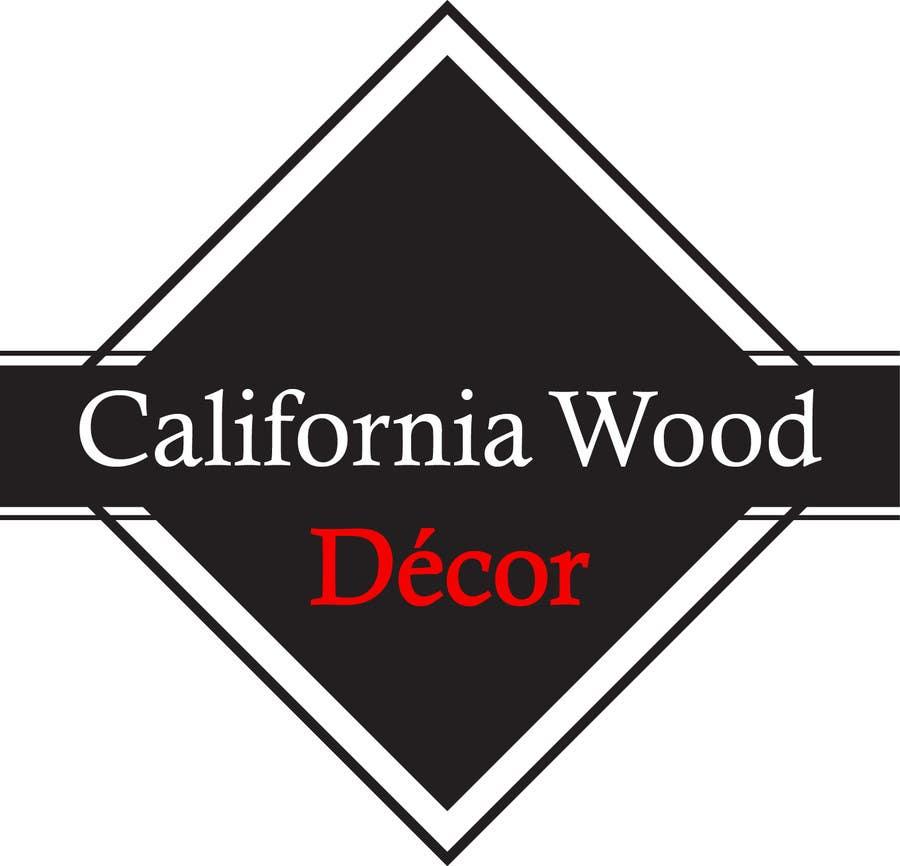 Inscrição nº 56 do Concurso para Design a Logo for California Wood Decor