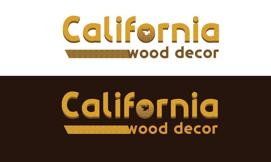 Konkurrenceindlæg #                                        55                                      for                                         Design a Logo for California Wood Decor