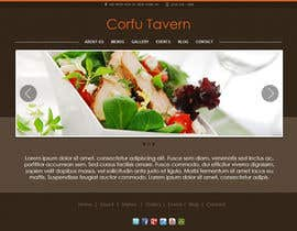 nº 14 pour Design for homepage Greek Traditional Tavern par Miuna