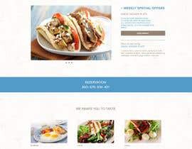 #11 for Design for homepage Greek Traditional Tavern af Verstakova