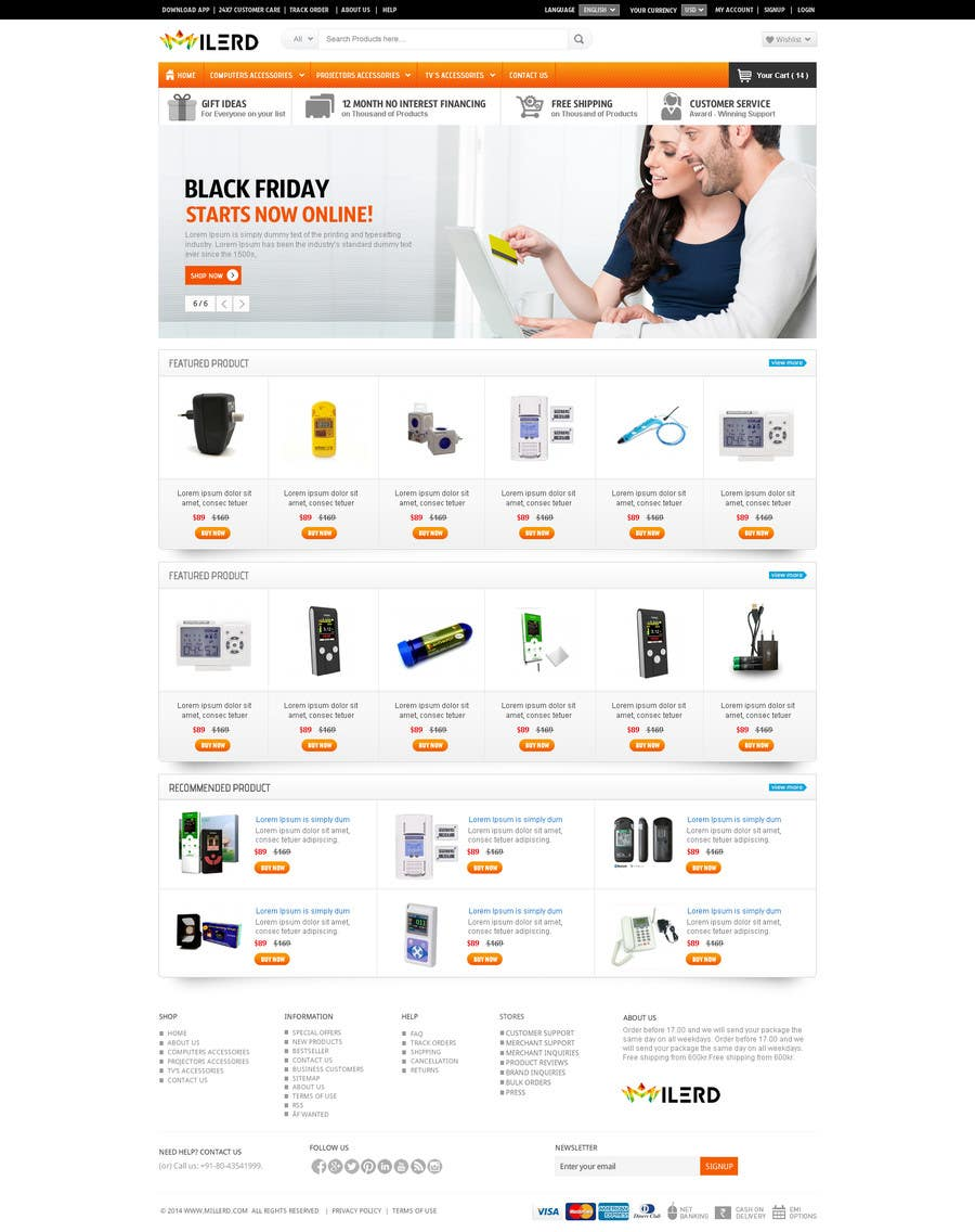 Proposition n°21 du concours Design a Website Mockup for premium German electronics brand