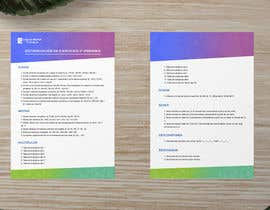 #27 for Graphic designer is needed to create a 2 page list design of math exercises. by moinmirajgfx