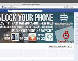 akram1293 tarafından Design a cover for Facebook,YouTube and twitter for UnlockPanda için no 13