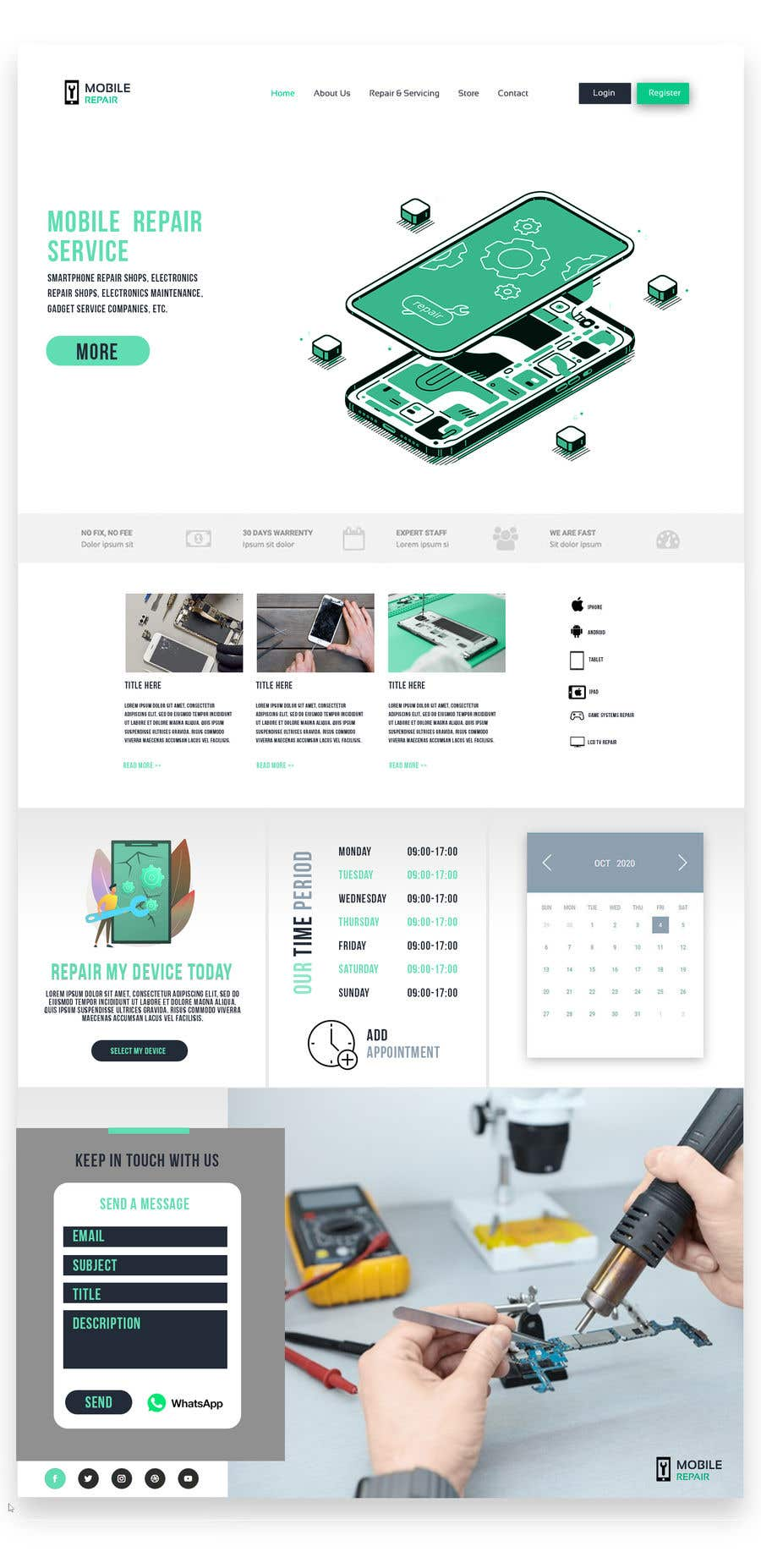Contest Entry #                                        15                                      for                                         UX design 5 pages