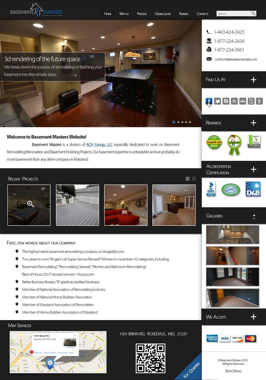 Bài tham dự cuộc thi #12 cho Design mockup for basementmasters.com