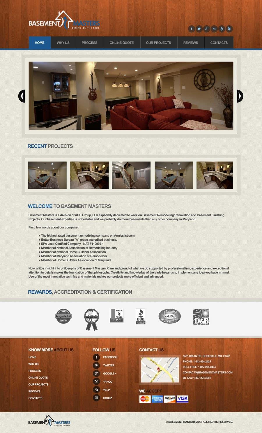 Inscrição nº 23 do Concurso para Design mockup for basementmasters.com