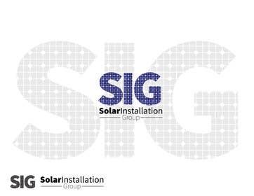 Nro 7 kilpailuun Design a Logo for SIG - Solar Installation Group käyttäjältä jarasaleem