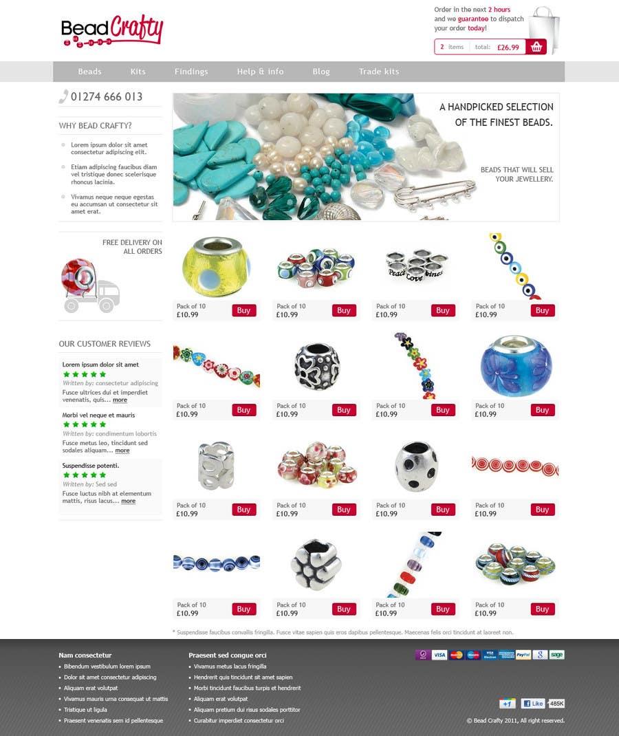 Konkurrenceindlæg #                                        23                                      for                                         Website Design for BeadCrafty.com