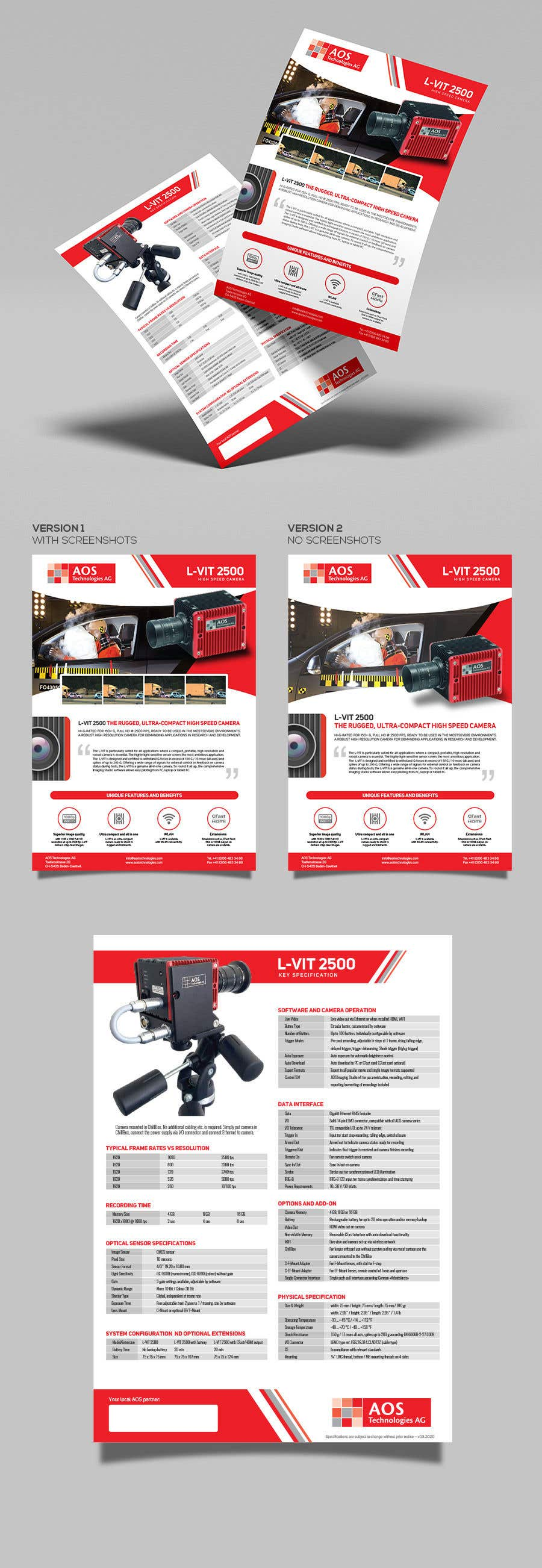 Kilpailutyö #                                        55                                      kilpailussa                                         New leaflet/datasheet/brochure design for our products
