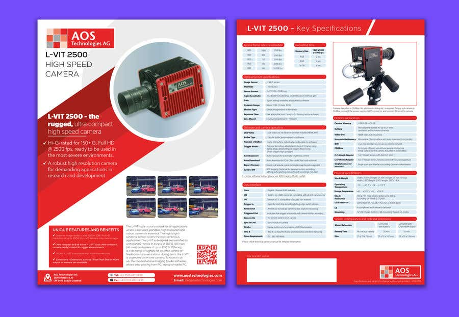 Kilpailutyö #                                        118                                      kilpailussa                                         New leaflet/datasheet/brochure design for our products