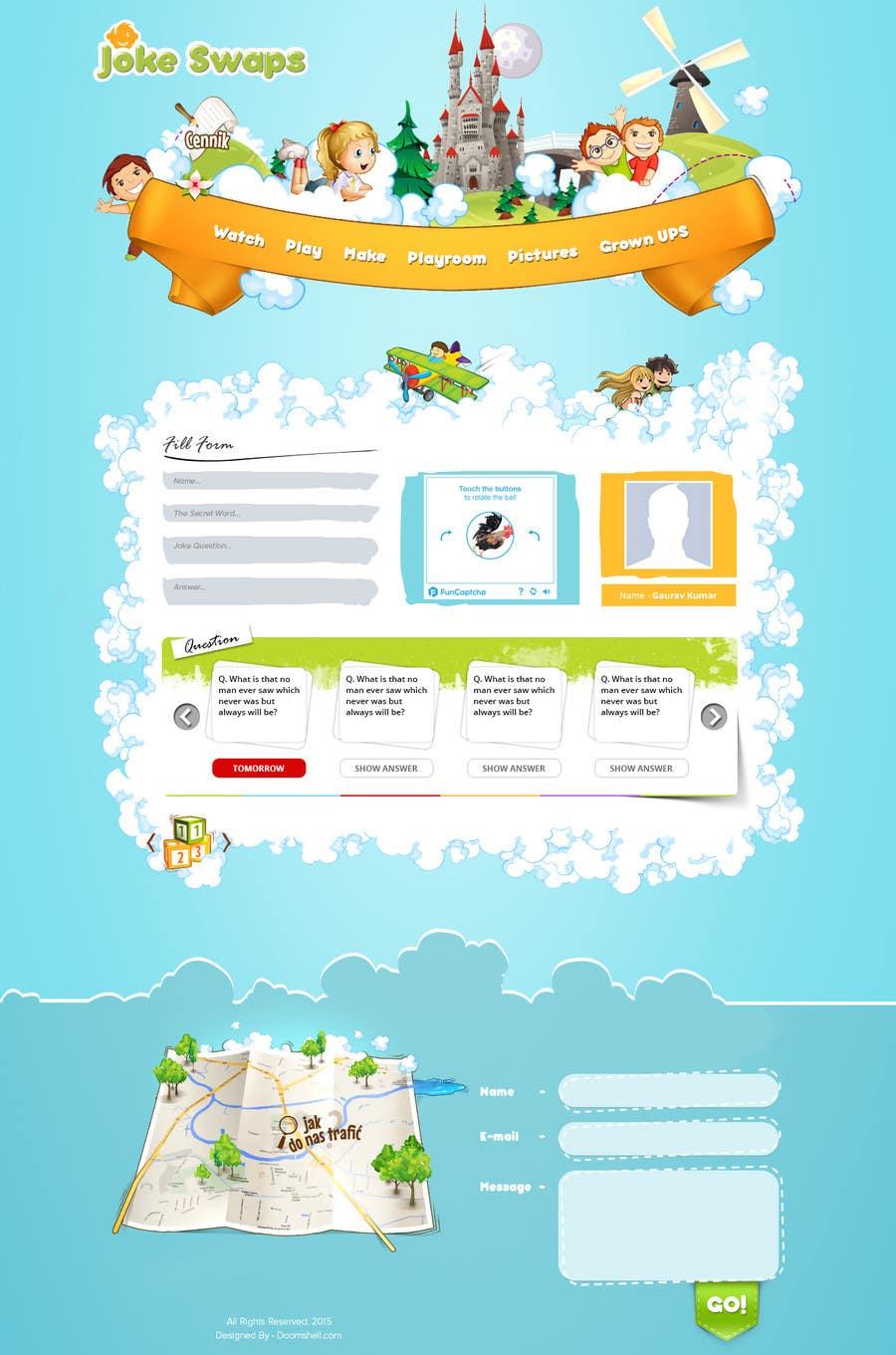 Bài tham dự cuộc thi #9 cho Design a Website Mockup for Kids Social Media site