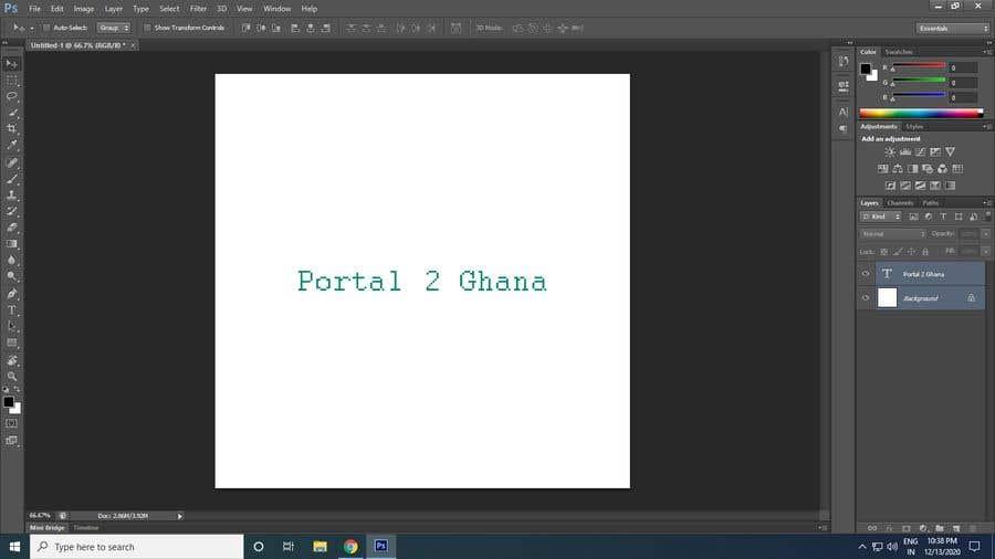 Proposition n°                                        132                                      du concours                                         Portal 2 Ghana
