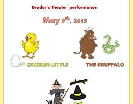 #2 para school Reader's Theater invitation de jokri