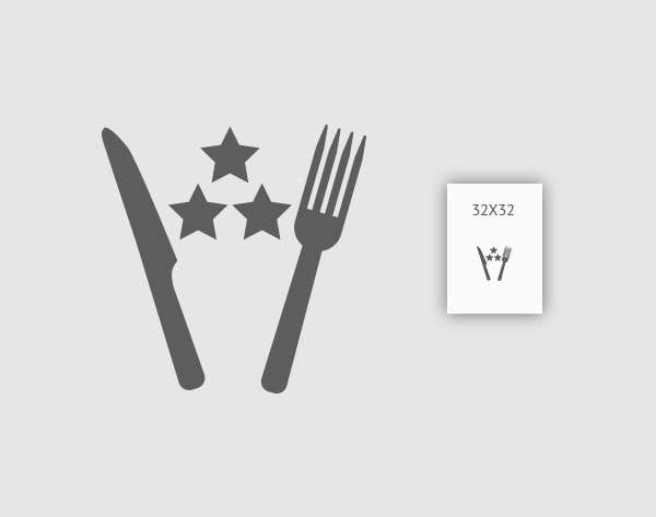 Contest Entry #20 for Design some Icons for 2-3 star knife and fork