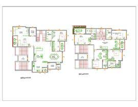 #43 untuk Redesign the architectural drawing of a duplex flat oleh rajikaneth