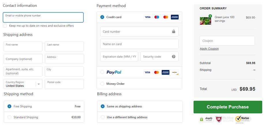 Penyertaan Peraduan #                                        57                                      untuk                                         Customer Shopify Checkout Page