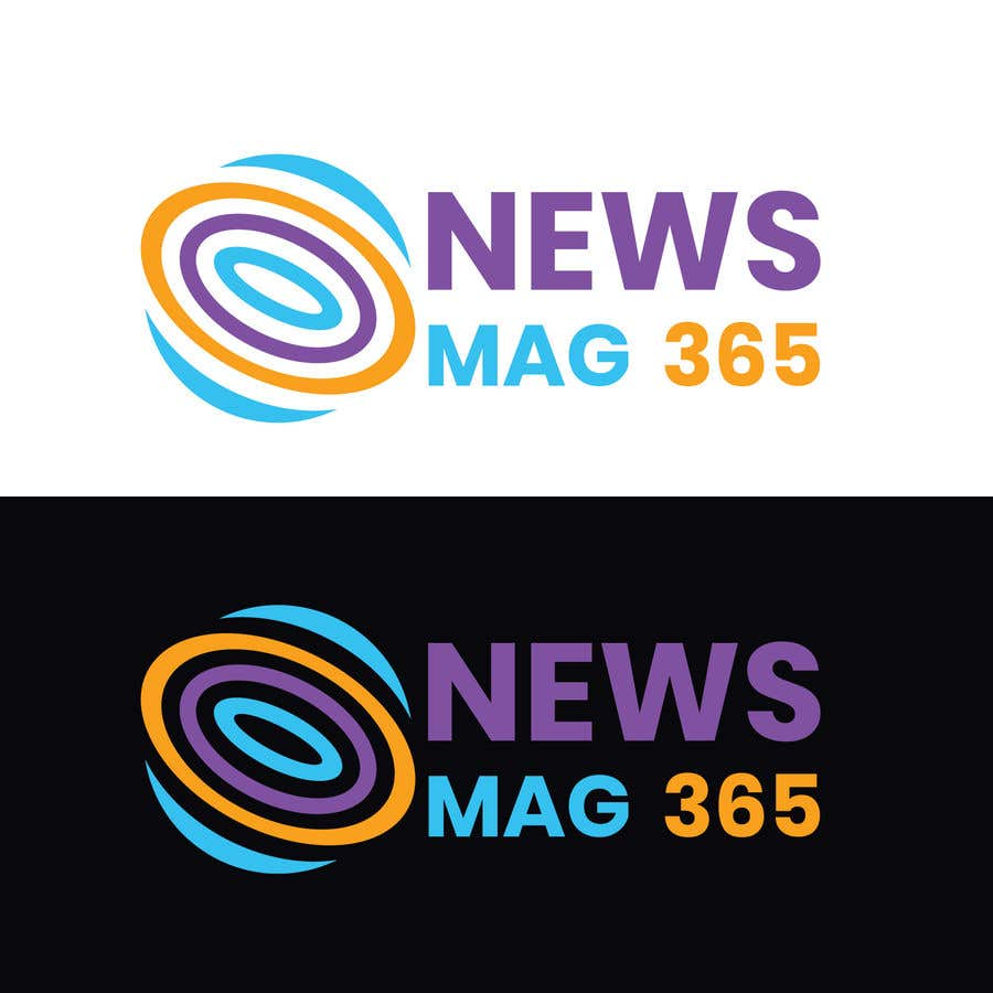 Penyertaan Peraduan #                                        56                                      untuk                                         Urgently required very sleek and eligent designed logo and favicon for my website which is based on online news => website brand name is News Mag 365 so i am looking for logo and favicon for it in 3 colors