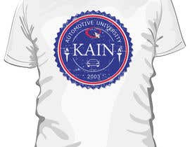 #15 para Design for a t-shirt for Kain University using our current logo in a distressed look de estheranino1