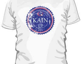 #22 para Design for a t-shirt for Kain University using our current logo in a distressed look de estheranino1