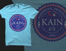 #34 untuk Design for a t-shirt for Kain University using our current logo in a distressed look oleh JustBananas