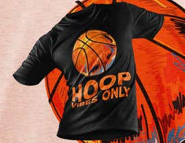 #64 cho I would like to Change words to HOOP VIBES ONLY in the same font pattern it is already. Remove the skull and flowers and add a basketball where the skull is over the letters.. i would like it in black and white for sure.. bởi ferdousisultana2