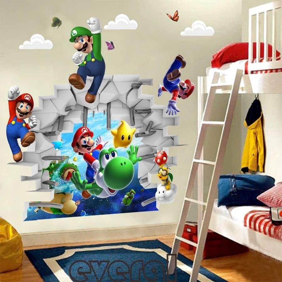 Penyertaan Peraduan #                                        8                                      untuk                                         Build a wall design for my house - Mario bross as an example