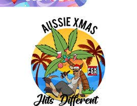 #80 for Design a stoner Kangaroo on the beach Christmas T-Shirt by BobNolan99