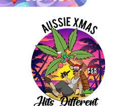 #81 for Design a stoner Kangaroo on the beach Christmas T-Shirt by BobNolan99