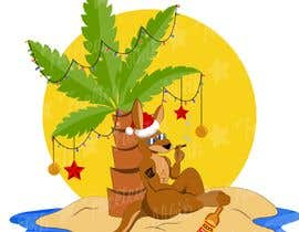 #54 for Design a stoner Kangaroo on the beach Christmas T-Shirt by HoracioHH