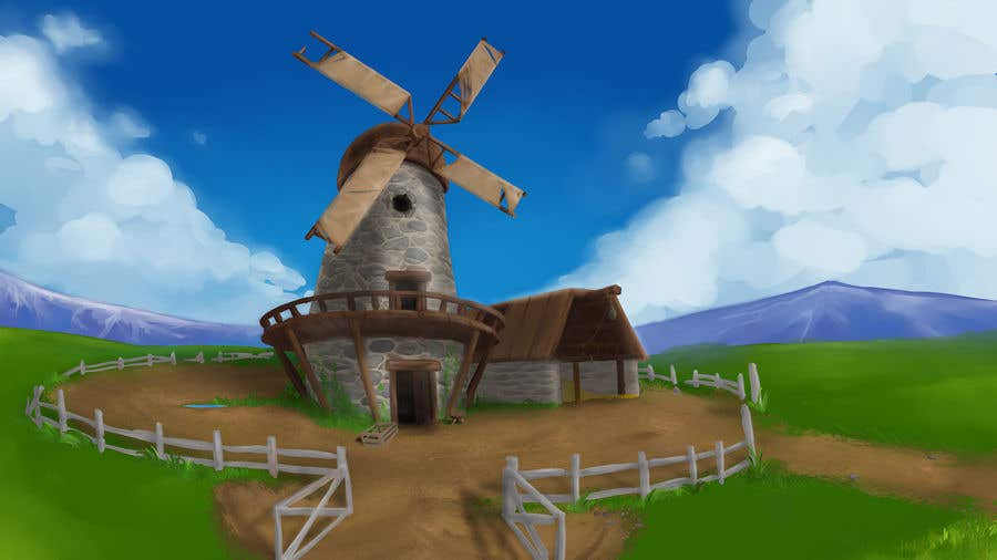Bài tham dự cuộc thi #                                        30                                      cho                                         Illustrate and Animate Original Old-Fashioned Windmill