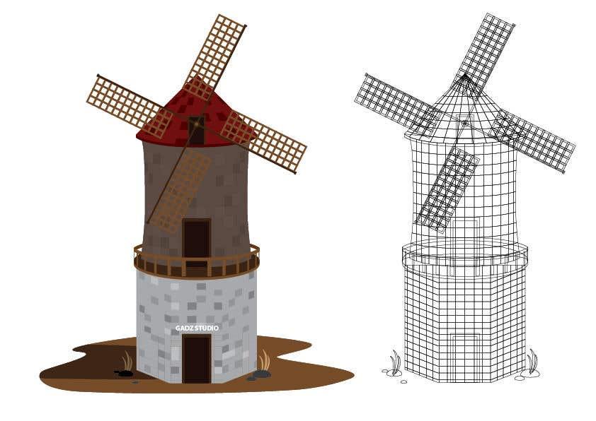 Bài tham dự cuộc thi #                                        18                                      cho                                         Illustrate and Animate Original Old-Fashioned Windmill