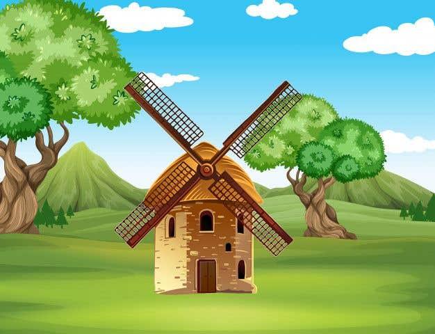 Bài tham dự cuộc thi #                                        32                                      cho                                         Illustrate and Animate Original Old-Fashioned Windmill