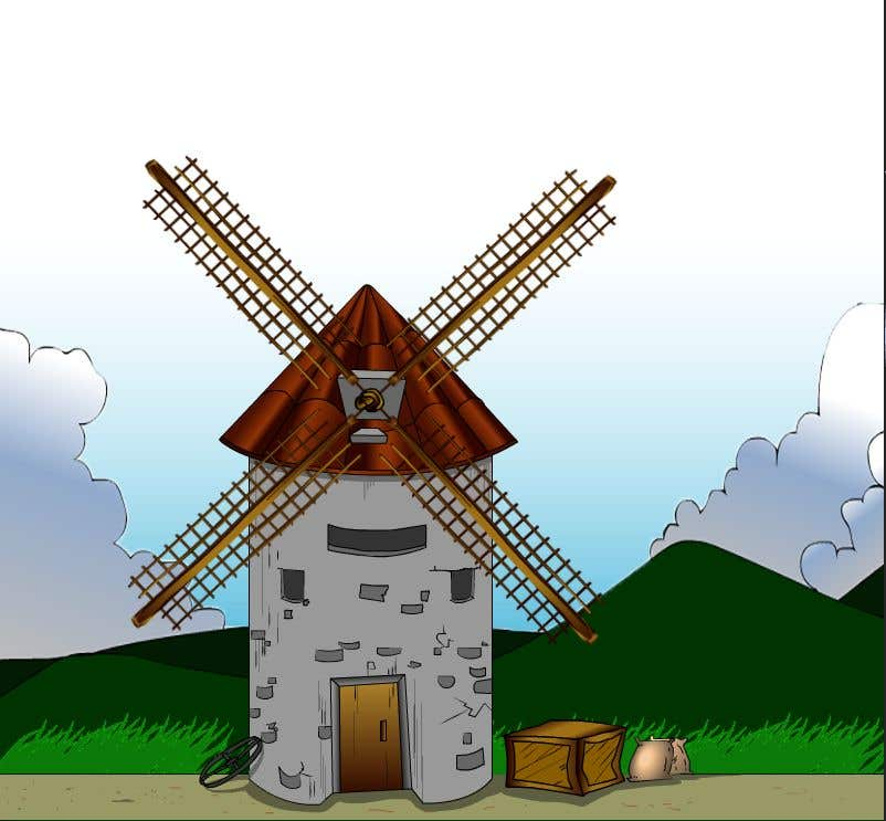 Bài tham dự cuộc thi #                                        24                                      cho                                         Illustrate and Animate Original Old-Fashioned Windmill
