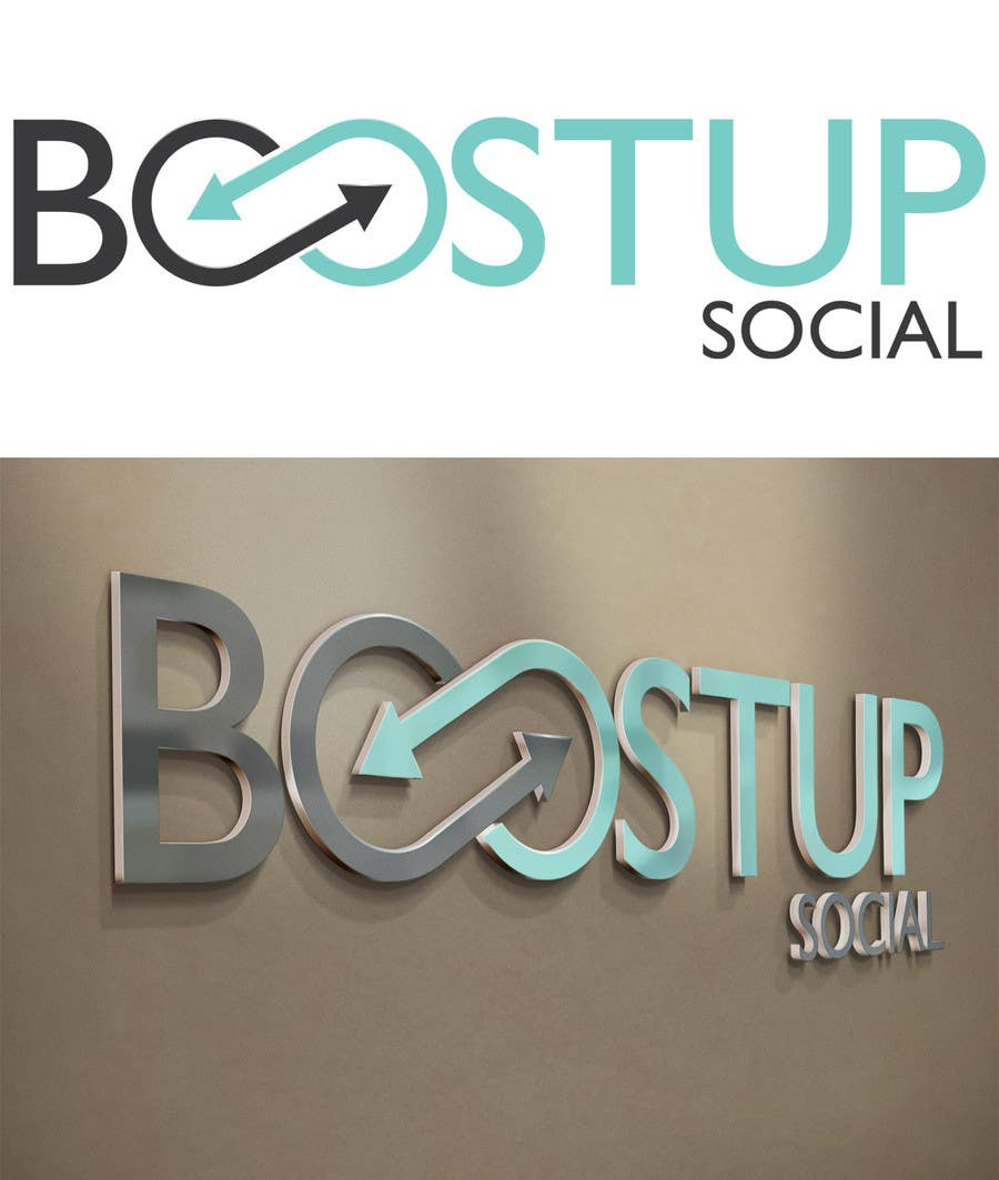 Kilpailutyö #19 kilpailussa Design a Logo and social media cover photo for Boost Up Social