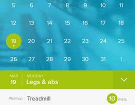 #35 para Design an App Mockup for a Gym por npreciousway