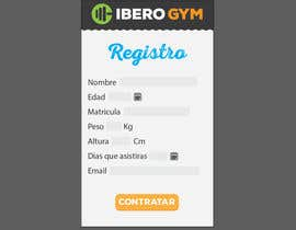 #48 para Design an App Mockup for a Gym por jakuart