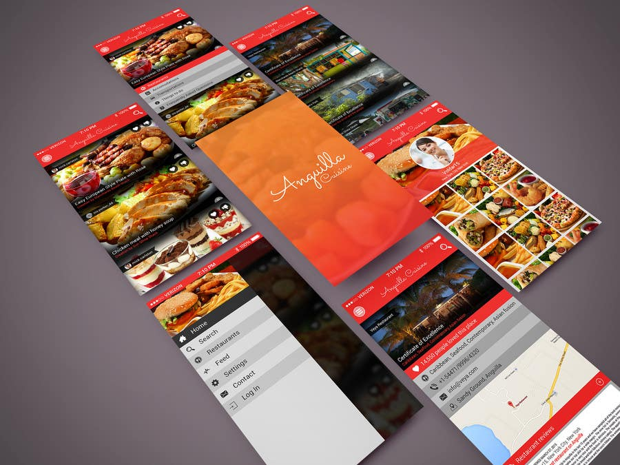 Contest Entry #                                        9                                      for                                         Anguilla Cuisine App UI Mockup